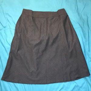 Talbots Gray Wool Skirt